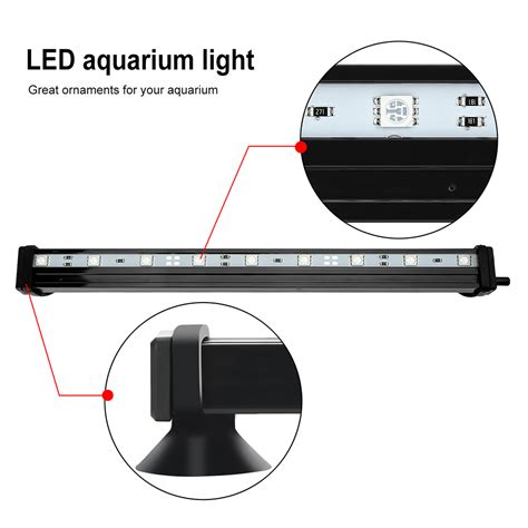 submersible led lights with remote control airstone bubble rgb aquarium led fish tank lights remote