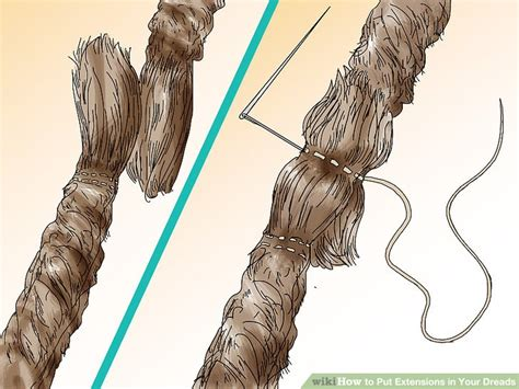 dreaded back part how to put extensions in your dreads 15 steps with pictures