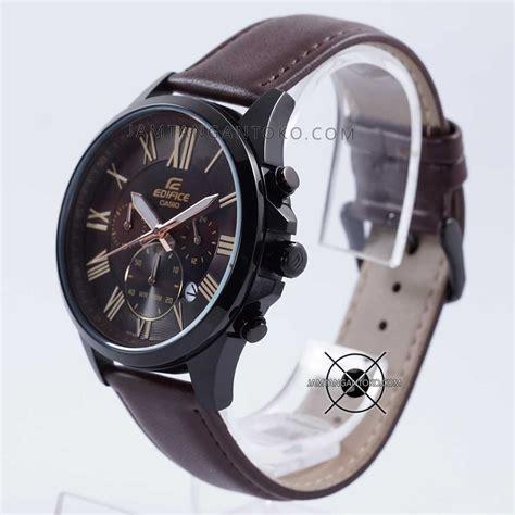 Jam Tangan Rolex Coklat Tua harga sarap jam tangan edifice efv 500bl 1av kulit coklat tua