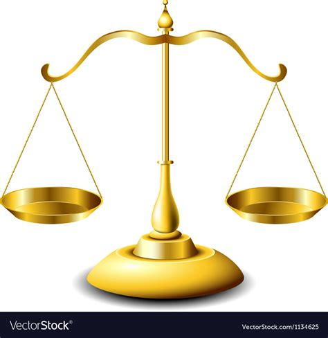 image of a scale scales of justice royalty free vector image vectorstock
