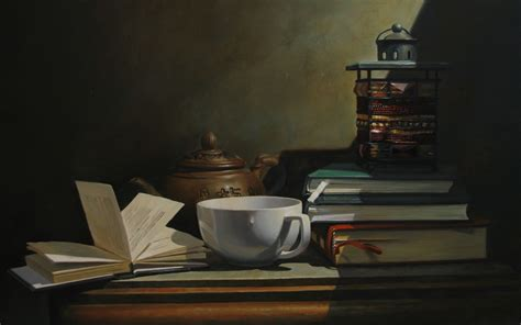 wallpaper coffee and books wallpaper still life cup book teapot tea desktop