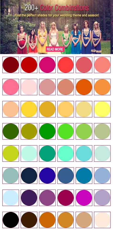 perfect color combinations 17 best images about wedding color palettes on pinterest