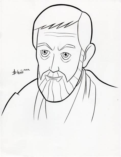 obe wan vs anakin coloring pages