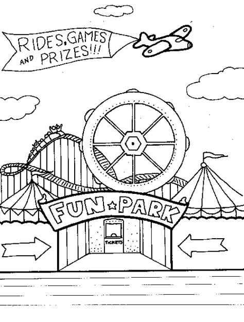 fun fair coloring pages coloring pages