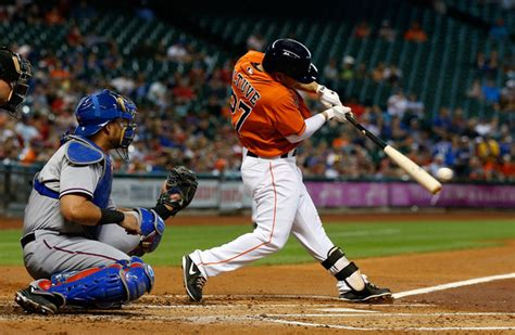 great baseball swings astros jose altuve and jarred cosart show the horizon