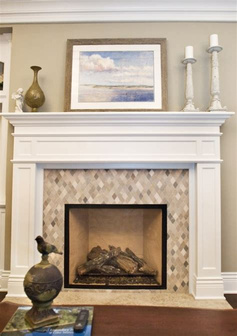 Tiling Around Fireplace by Mosaic Tile Around Fireplace