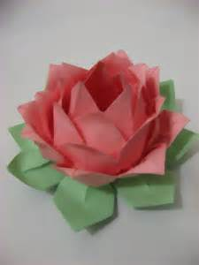 Lotus Flower Origami Origami Colored Lotus Flower By Uchiha Yue On Deviantart