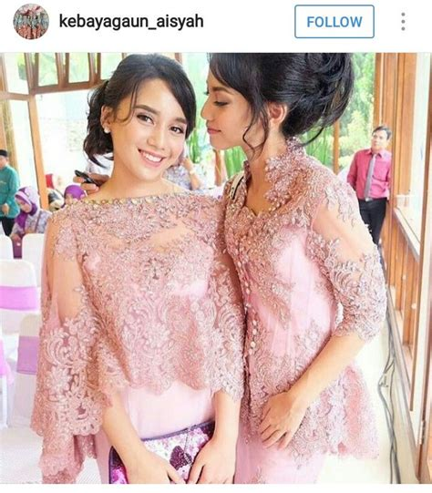 Gaya Baju 148 best images about gaya kebaya on beautiful family one shoulder bridesmaid