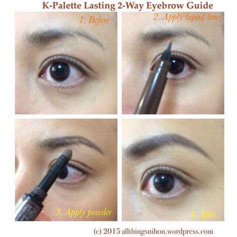 k palette 1 day tatoo lasting 2 way eyebrow liquid beautykitshop