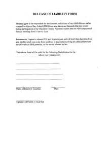 waiver of liability form template best photos of release from liability form template