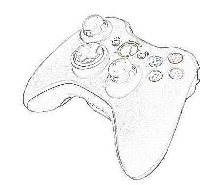 Drawing Xbox Controller by Xbox One Controller Drawing At Getdrawings Free For