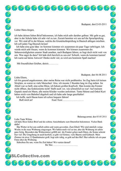 Deutschland Brief Beispiel brief b1 lernen