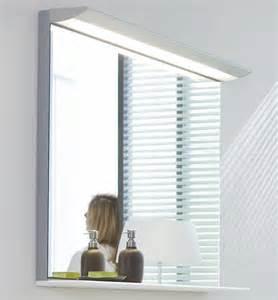 Wooden Bathroom Mirror With Shelf Duravit New 600mm Mirror With Lightning And Wooden Shelf