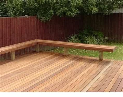 wood deck bench simple l shape wood bench on deck holland mckinley
