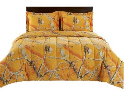 realtree twin comforter orange and camo comforter