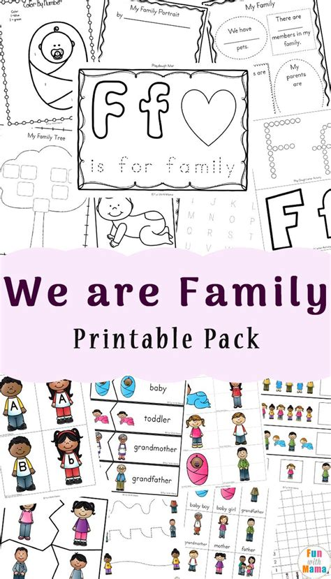 kindergarten activities on family 61 best my family theme weekly home preschool images on
