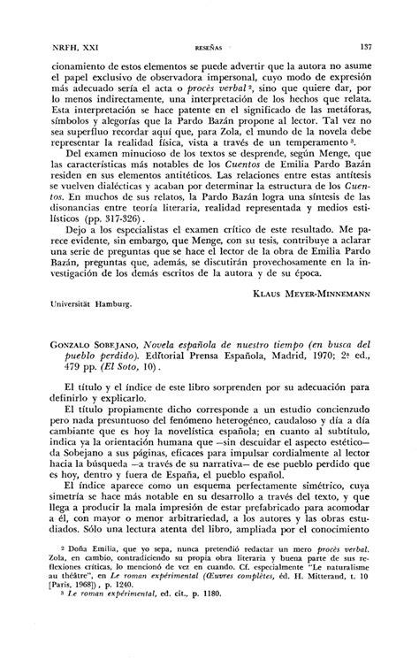 (PDF) Gonzalo Sobejano, Novela española de nuestro tiempo
