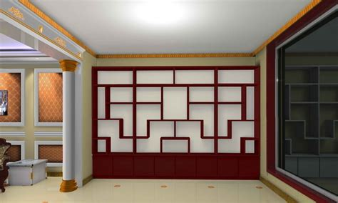 interior wood walls design 3d house