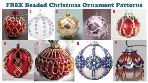 free patterns beaded christmas ornaments check them out