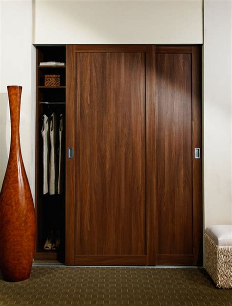 Sliding Closet Doors Wood Sliding Doors Shaker Wood Frame