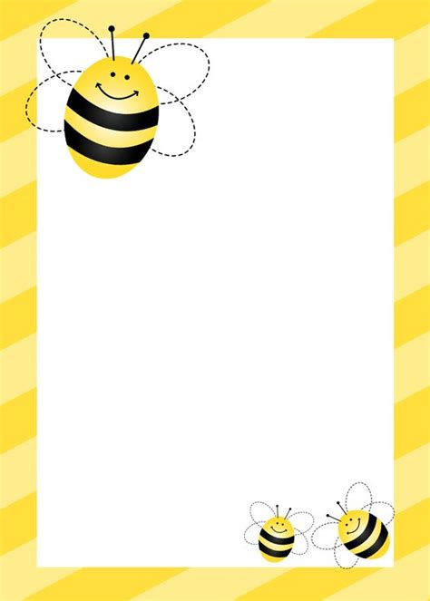bee writing paper bumblebee themed birthday with free printables