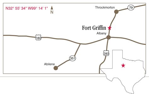 fort griffin texas map fort griffin state historic site albany texas texas historical commission
