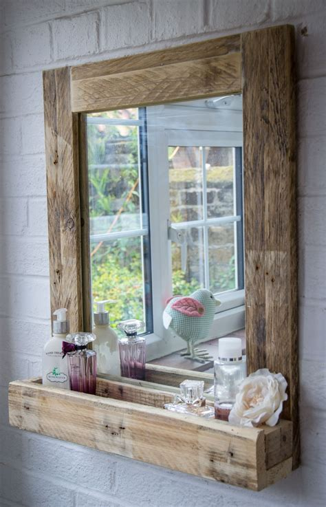 rustic bathroom mirrors rustic bathroom mirror made from reclaimed pallet wood