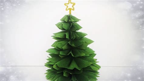 how to makeacheistmas tree stau up how to make tree from crepe paper easy tutorial