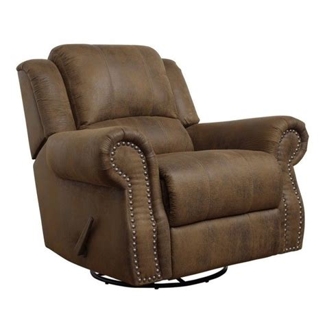 Coaster Rawlinson Microfiber Swivel Recliner In Brown 650153