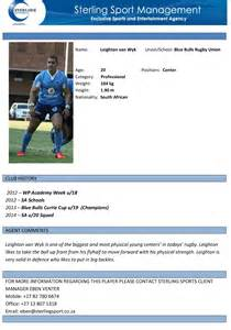sterling sport player profile focus leighton wyk