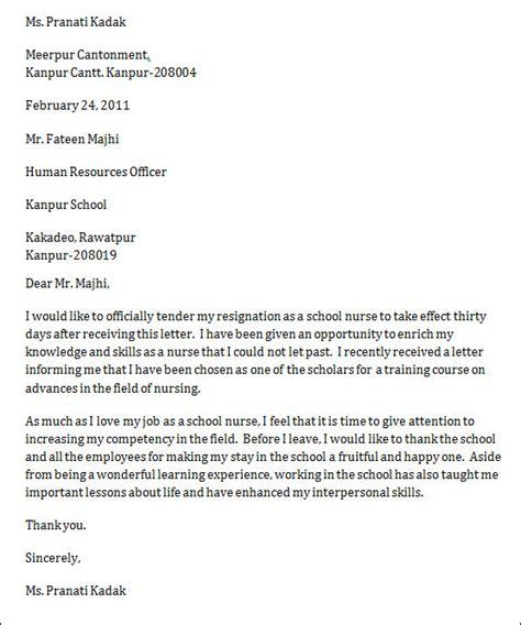 resignation letters for nurses abcom