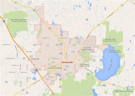 map of gainesville fl gainesville florida map