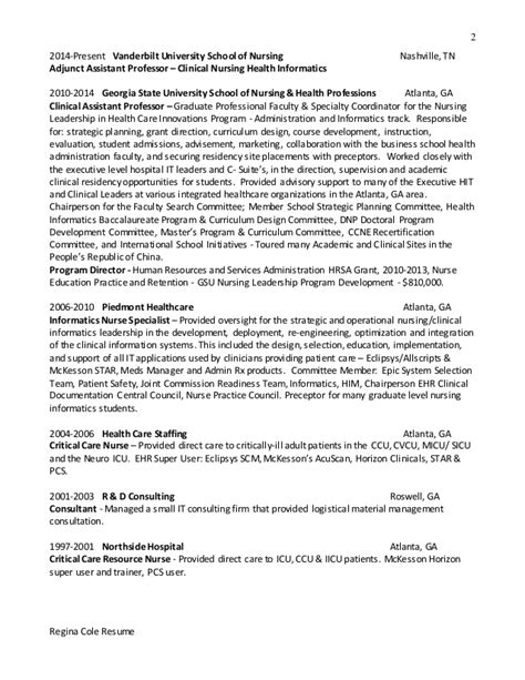 Informatics Resume Health Informatics Resume Images
