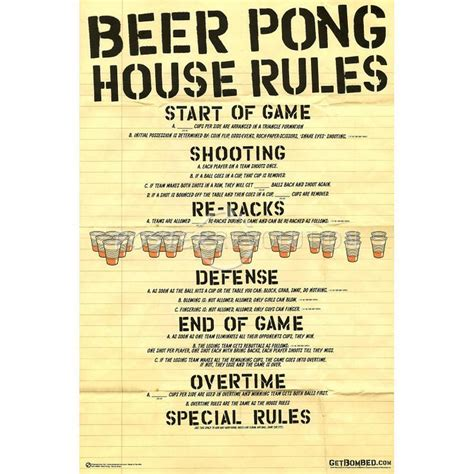 beer pong house rules art poster quot man i love college quot pinterest