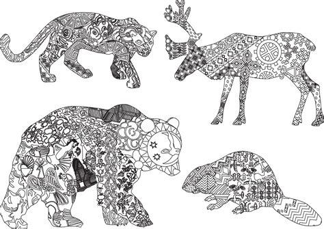 anti stress coloring book animals mandala animaux sauvages recherche coloriage