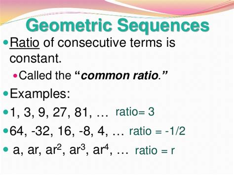 geometric pattern vs arithmetic 13 1 arithmetic and geometric sequences