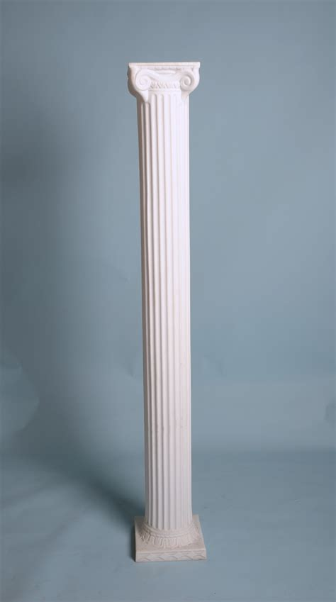"Empire Roman Column, White Resin, 72""Hx9.5""D   Arizona Party Rental/SW Events and Rentals Inc"