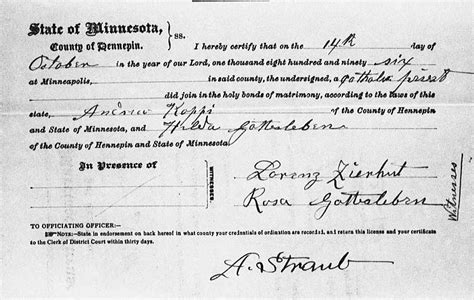 Hennepin County Marriage License Records Familien Gottesleben