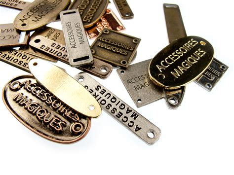 custom tags for custom personalized metal clothing tags 100pcs made to measure
