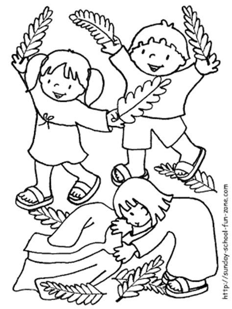 coloring page jesus triumphal entry ebi paraguay para colorear domingo de ramos
