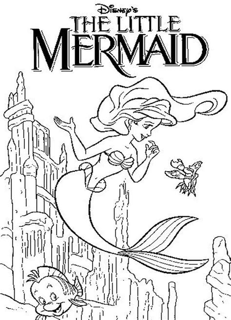 little mermaid castle coloring page disney coloring pages