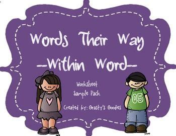 31 Best Images About Words Their Way On Pinterest Word