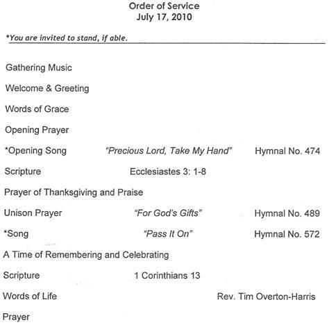 29 Images Of Church Service Programs Template Leseriail Com Sunday Church Program Template