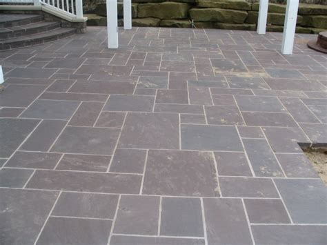 Good Exle Of Ashlar Pattern Bluestone Colors Of Bluestone Patio Patterns