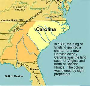 colonial carolina map a quot lost quot us state alternate history discussion