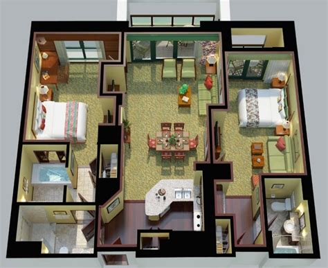 marriott grand chateau 3 bedroom villa floor plan marriott s koolina club oahu vacation