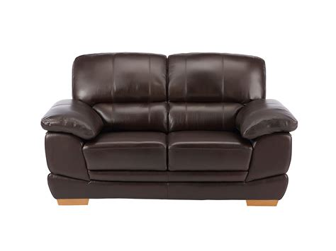 small leather recliner sofa cameron brown leather 2 seater sofa