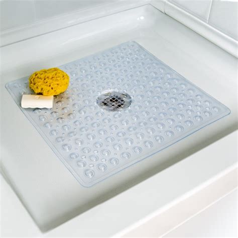 bathtub mat deluxe square shower mat in clear