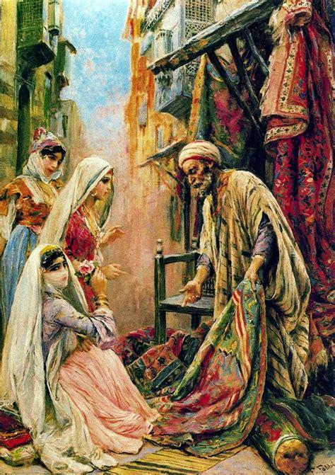 venditore di tappeti cairo paintings fabio fabbi italian painter