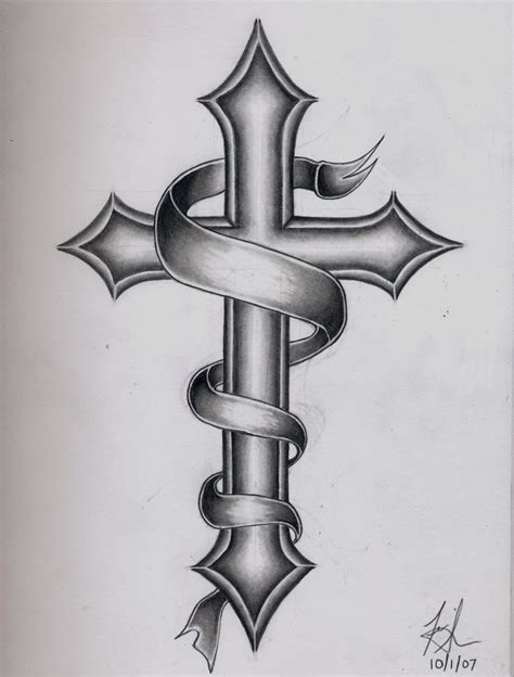cross with banner tattoo cross tattoos page 91